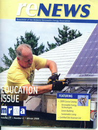 Cover of Midwest Renewable Energy Magazine!